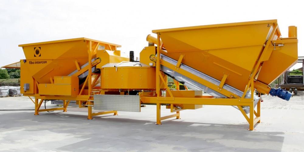 Полумобильный бетонный завод Fibo Intercon F2200