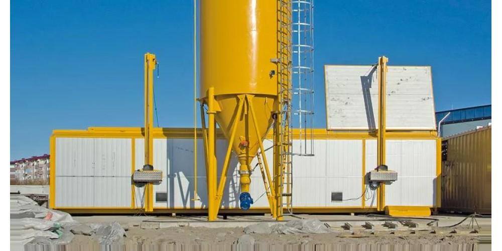 Полумобильный бетонный завод Fibo Intercon FI1800 зимний